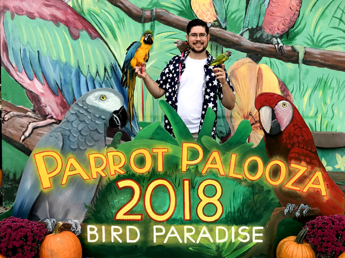 Michael Sazhin the Parrot Wizard at Parrot Palooza