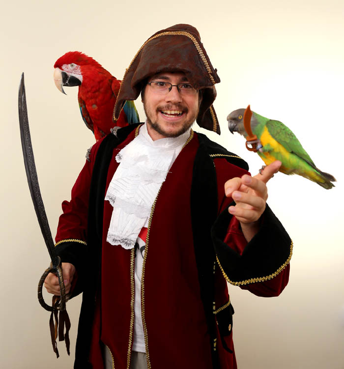 Pirate with Parrots