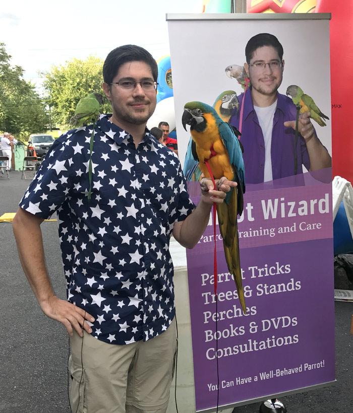 Parrot Wizard Banner