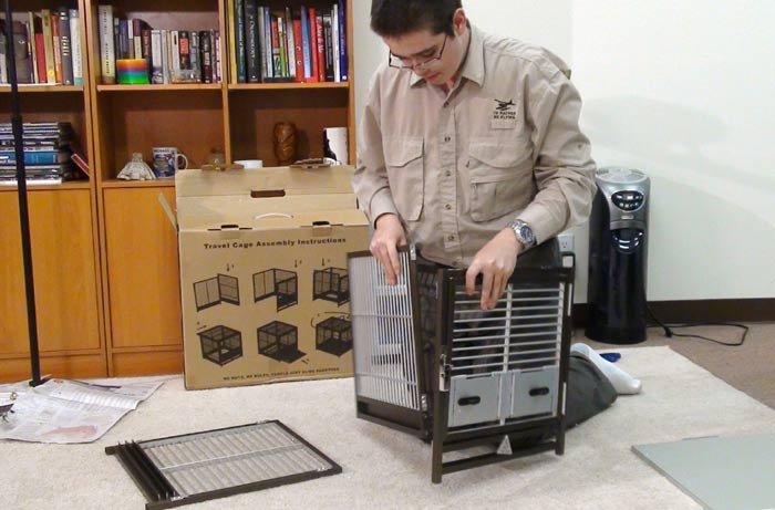 Assembling Kings Travel Cage