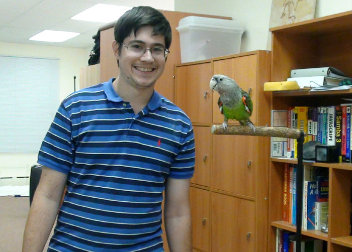 Michael and Truman the Cape Parrot